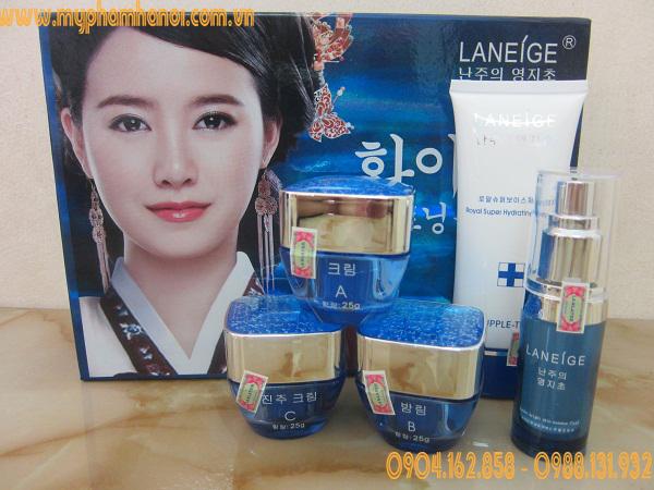 Bộ mỹ phẩm trắng da cao cấp Laneige Xanh (5in1)- Giá 1.050k/ Bộ