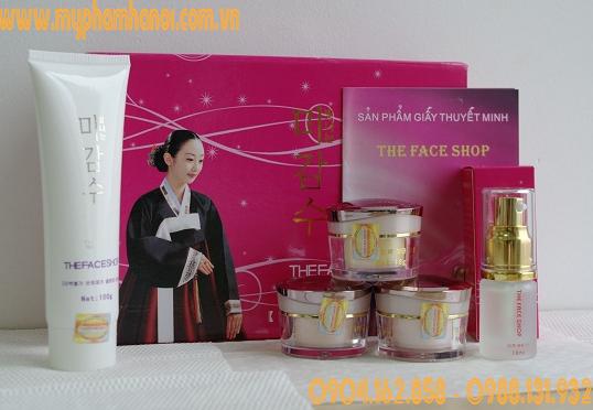 Bộ mỹ phẩm trắng da The Face Shop hồng 5in1 - Giá 450k/ Bộ
