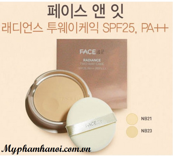 Phấn phủ The Face Shop Face It Radiance Two Way Cake SPF25 PA ++ - Phan phu The Face Shop Face It Radiance Two Way Cake SPF25 PA ++