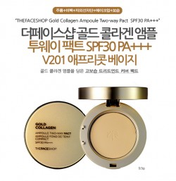 Phấn Phủ Gold Collagen Ampoule Two-way Pact The Face Shop - Phan Phu Gold Collagen Ampoule Two-way Pact The Face Shop