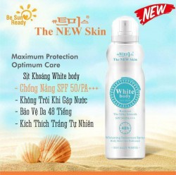 Xịt Chống Nắng White Body The New Skin - Xit Chong Nang White Body The New Skin