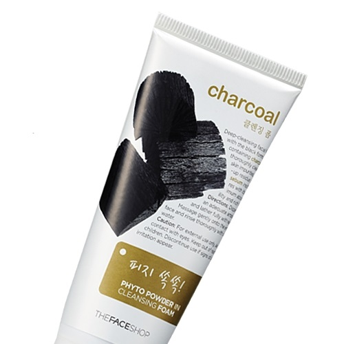 Sữa rửa mặt than Charcoal Phyto Powder In Cleansing Foam The face shop - Sua rua mat than Charcoal Phyto Powder In Cleansing Foam The face shop
