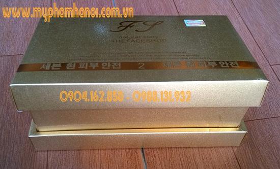 Bộ mỹ phẩm trị nám, tàn nhang trắng da The Face Shop cao cấp vàng 2in1 - Giá 650k/ Bộ